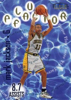 RARE 98/99 FLEER TRADITION PLUS FACTOR MARK JACKSON INDIANA PACERS MINT