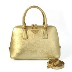 01c84a4b5d17 £132.00 Buy Prada Saffiano Lux Top Handle Bag Bl0837 Golden Leather Website