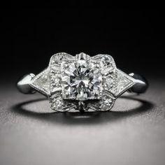.60 Carat Deco Style Diamond Engagement Ring - Antique & Vintage Diamond Rings - Vintage Jewelry