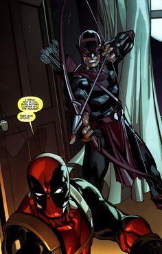 Deadpool vs. Hawkeye/Bullseye — Paco Medina
