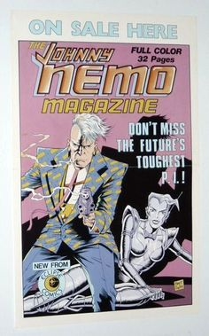 1980's Johnny Nemo Magazine Eclipse Comics promotional promo poster