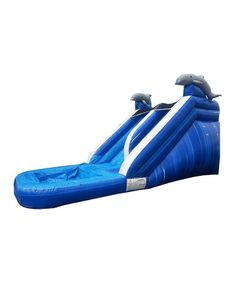 Blue Marble Xtreme Wet/Dry Inflatable Water Slide #zulily #zulilyfinds