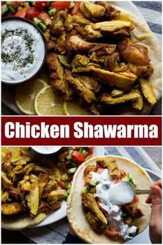 mediterranean recipes This chicken shawarma recipe is going to change your life! Learn how to make homemade chicken shawarma and serve it with pita, Mediterranean salad and a del Mediterranean Chicken, Mediterranean Diet Recipes, Chicken Schwarma Recipe, Chicken Shawarma Sandwich, Tahini Chicken Recipe, Schawarma Rezept, Chicken Pita, Keto Chicken, Lebanese Recipes