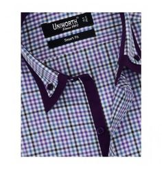 Purple With Multi Check Shirt