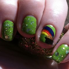 St.Patty's Day nails