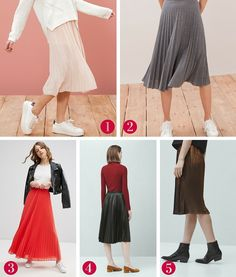 Faldas plisadas