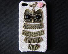iphone 4s case antique bronze owl