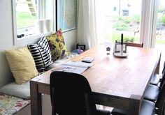 high house then radio: Dining room bench