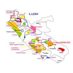 Mappa dei vini del Lazio #TuscanyAgriturismoGiratola