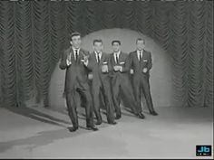 "Danny and  The Juniors - At The Hop [1957]  My sister and I used to do an amazing ""Hop"" to this song.  You didn't need a gym membership back then to get a good workout!!"
