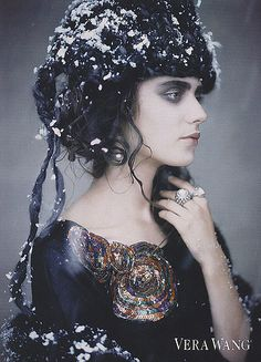 Perfect pairing of makeup, hair and wardrobe!   fall/winter 07/08  - by paolo roversi - for vera vang by fashion.inspiration, via Flickr