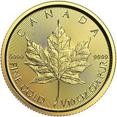 The smaller Gold Maple Leaf Coins issued this year – the 2019 oz Canadian Gold Maple Leaf Coin. These coins join their heavier and lighter counterparts to mark yet another successful annual release under the Gold Maple Leaf Coin program. Canadian Maple Leaf, Canadian Coins, Gold And Silver Prices, Gold And Silver Coins, Maple Leaf Gold, Gold Leaf, Gold Coins For Sale, Gold Stock, Silver Bullion