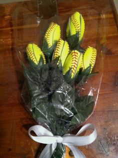Softball Flowers 6 Custo...