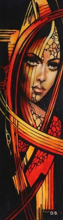 Fantasy Paintings, Indian Paintings, L'art Du Portrait, Portraits, Urbane Kunst, Afrique Art, Abstract Painters, Face Art, Art Sketches