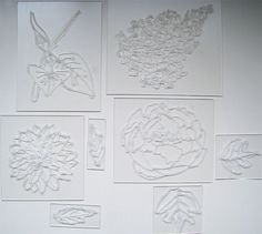 Clear stamps using household clear silicone caulk - brilliant! #DIY #art #craft