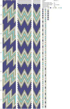 14 around tubular bead crochet rope pattern.
