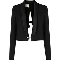Womens Evening Jackets Lanvin Black Cropped Wool Tuxedo Jacket ($2,580) ❤ liked on Polyvore featuring outerwear, jackets, blazers, cropped tuxedo jacket, evening jacket, special occasion jackets, lanvin jacket and lanvin