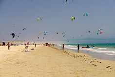 Travelling with kids to Tarifa Spain. Kitesurfing holidays