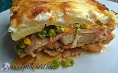 Tepsis rakott hús recept fotóval Hungarian Recipes, Lasagna, Beef Recipes, Casserole, Sausage, Grilling, Sandwiches, Dinner Recipes, Pork