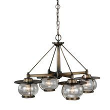 View the Vaxcel Lighting H0007 Jamestown 4 Light Single Tier Chandelier at LightingDirect.com.
