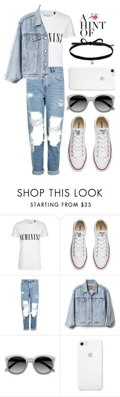 """Untitled #133"" by lenka-skodiova ❤ liked on Polyvore featuring Tee and Cake, Converse, Topshop, Gap, Ace and Joomi Lim"