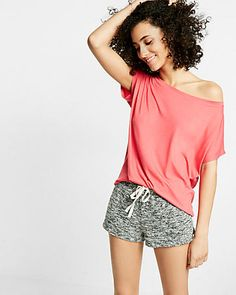 Express One Eleven Off-the-shoulder Tee