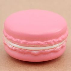 Adorable pink macaron white center squishy