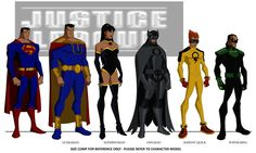 Crime Syndicate character designs from Justice League Crisis on 2 Earths. Artwork by Phil Bourassa