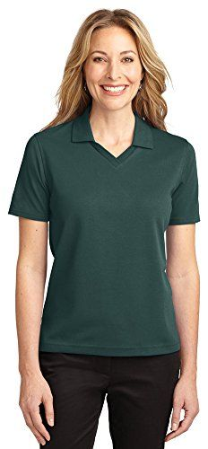 Port Authority174; Ladies Poly-Bamboo Charcoal Blend Pique Polo Black