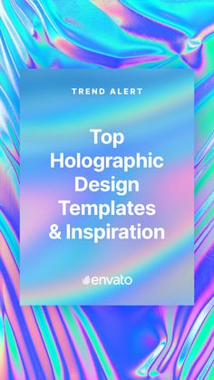 With its iridescent aesthetic and futuristic rainbow palette, the holographic trend is the latest graphic design craze captivating the Internet. Here are some of the best #holographic design templates, #videos, and #PhotoshopActions available on @Envato Elements.