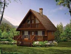 Chalet House Plan, A little retreat - 1073 sq. Cabin House Plans, Log Home Plans, Cottage Floor Plans, Cabin Floor Plans, House Plans One Story, Cottage House Plans, Best House Plans, Small House Plans, Cottage Homes