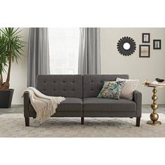 Free Shipping. Buy Better Homes and Gardens Porter Fabric Tufted Futon, Multiple Colors at Walmart.com