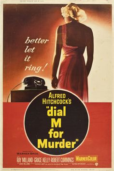 Dial M for Murder (1954) (dir Alfred Hitchcock)  #AlfredHitchcock #movies #posters