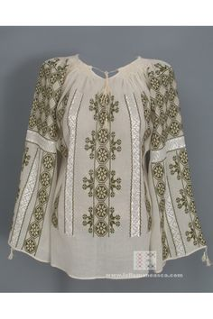 Hand embroidered Romanian peasant blouses for sale worldwide .
