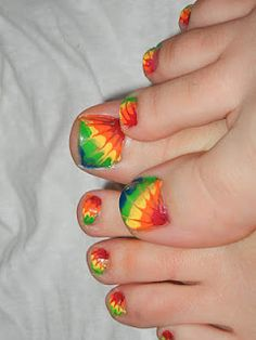 How to tie dye toes - @Hannah Mestel Mestel look at this!