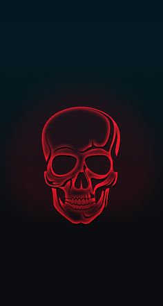 Red Skull Amoled iPhone Wallpaper Source by Depressed_gurl Skull Wallpaper Iphone, Neon Wallpaper, Wallpaper Backgrounds, Red And Black Wallpaper, White Wallpaper, Wallpaper Desktop, Disney Wallpaper, Dark Backgrounds, Mobile Wallpaper