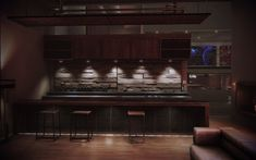 Mass Effect 3 Citadel Apartment - Secondary Living Room Bar Mass Effect Citadel, Mass Effect 3, Living Room Bar, Architecture Details, Man Cave, My House, Interior, Neon Nights, Awesome Stuff