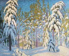 Winter in the Northern Woods by Lawren Stewart Harris (Canadian 1885 - 1970)