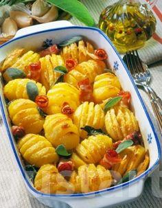 Receptek Lajos Mari konyhájából - Sajtos recés krumpli