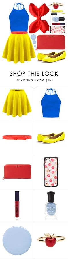 """""""Halloween: Snow White 🍎🍎🍎"""" by iris913 ❤ liked on Polyvore featuring Marni, Givenchy, Casetify, Lipstick Queen, Deborah Lippmann, Alison Lou and MAC Cosmetics"""
