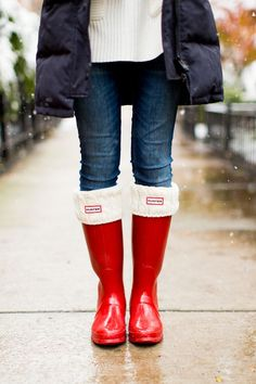8e053a011af7 My entire closet is on sale! Including these Hunter Boot Socks. Added  warmth… and cuteness! These boots and socks make the perfect rainy day  outfit for ...
