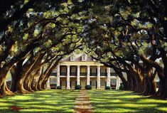 Oak Alley Plantation (by Brad Thompson) Located on the Mississippi River in Vacherie, Louisiana. New Orleans Plantations, Louisiana Plantations, Beautiful Buildings, Beautiful Homes, Beautiful Places, Beautiful Dream, Beautiful Scenery, Mediterranean Style Homes, Mediterranean Architecture