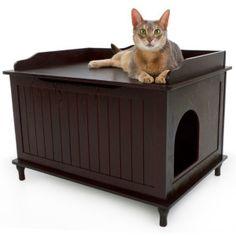 Hidden Litter Box » Designer Pet Products Designer Catbox Litter Box Enclosure | PetSmart - need to get this