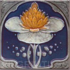 Art Nouveau stylized Ceramic Tiles ref An51