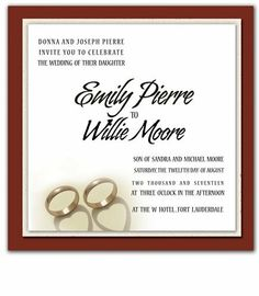 55 Square Wedding Invitations - Cherish Ring Hearts by WeddingPaperMasters.com. $185.35. Now you can have it all! We have created, at incredible prices & outstanding quality, more than 300 gorgeous collections consisting of over 6000 beautiful pieces that are perfectly coordinated together to capture your vision without compromise. No more mixing and matching or having to compromise your look. We can provide you with one piece or an entire collection in a one stop shopping expe...