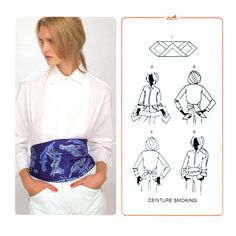 scarf as a sah belt - Foulard outfit belt Scarf Knots, Scarf Belt, Sewing Clothes, Diy Clothes, Diy Fashion, Vintage Fashion, Preppy Style, My Style, How To Wear Scarves