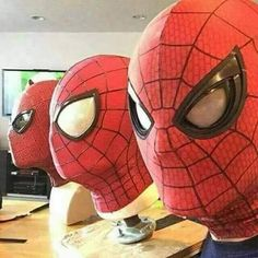Evolution of Spidey's mask.