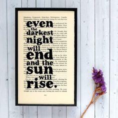 Plakát v dřevěném rámu Les Misérables Sun   Bonami