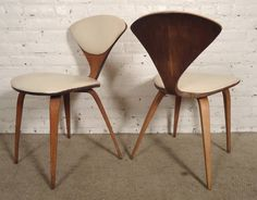 pair of norman cherner chairs by plycraft
