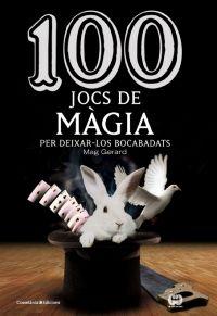 """100 jocs de màgia per deixar-los bocabadats de Mag Gerard. Cossetània Ed. """"Benvinguts al fascinant, misteriós, enigmàtic i sorprenent món de la màgia. El llibre que teniu a les mans és un recull d'un centenar de jocs de mans que podeu fer en diverses situacions de la vostra vida: amb els vostres companys de feina durant un descans, amb els amics fent un mos en una cafeteria, en un àpat amb la vostra família..."""" Feu un tastet a http://www.cossetania.com/tasts/100jocsmagia.pdf"""